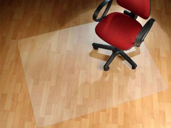 Bodenschutzmatte für Hartböden rechteckig aus Vinyl oder Polycarbonat