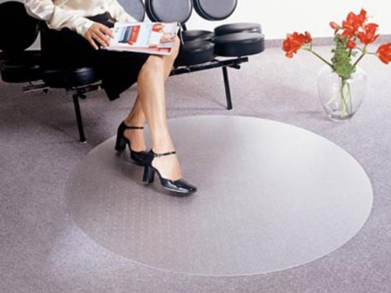 Bodenschutzmatte für Teppichböden, rund