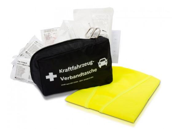 KFZ Verbandstasche | Nylon-Zipptasche | optional inkl. Warnweste