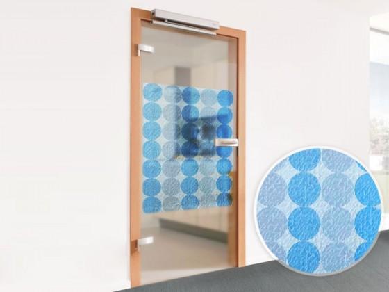 Dekorfolie für Glastür