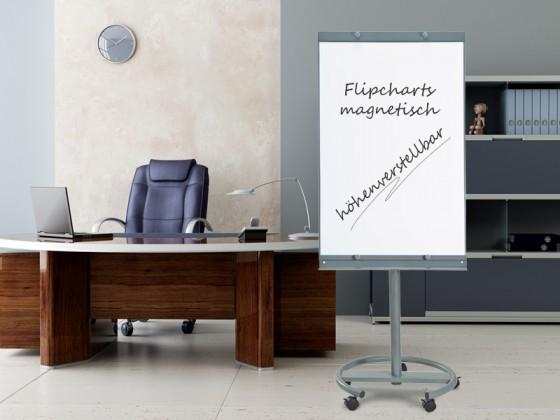 Flipcharts mobil, auf Rollen, mit zusätzlichen Papierhaltern