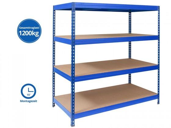Weitspannregal | Blau | Gesamtlast: 1200 kg | 4 Grössen