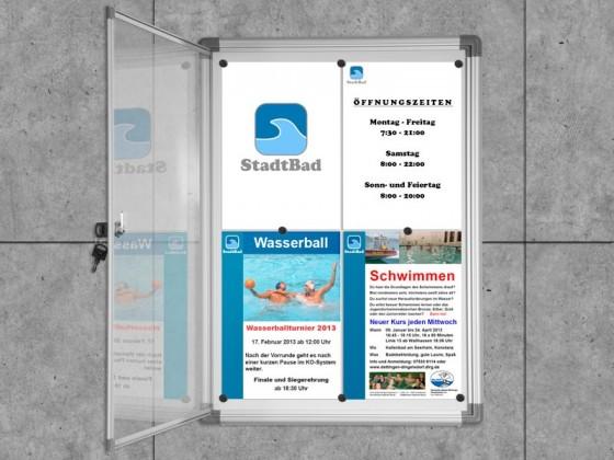 Schaukasten Premium | Acrylglas-Tür | Grössen: 1 x A4 bis 9 x A4