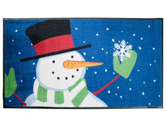 Weihnachtsmatte Schneemann mit Schneeflocke