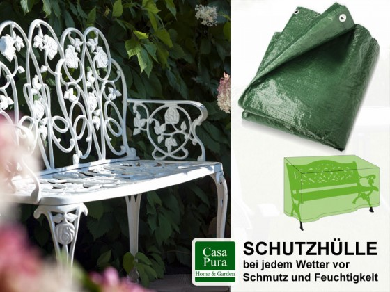 wetterfese schutzh lle f r gartenbank. Black Bedroom Furniture Sets. Home Design Ideas