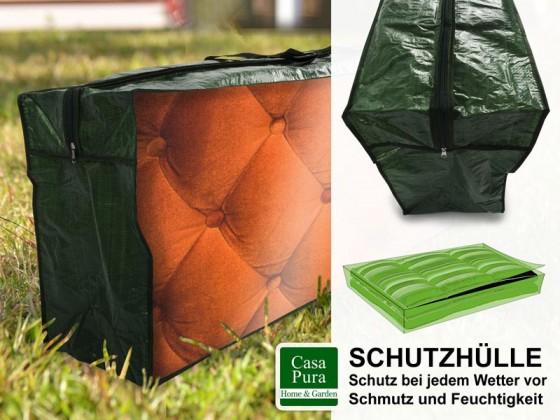 Schutzhülle Polsterauflagen   125x50x32 cm   grün