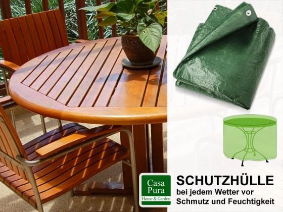 Schutzhülle Gartentisch | rund | grün | 3 Grössen