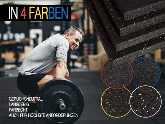 Sportboden   Fitnessboden   Erweiterbar   Stärke: 40 mm   Grösse: 50x50 cm