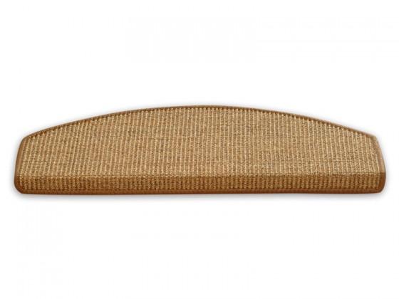 Sisal-Stufenmatten sand- dunkelbeige