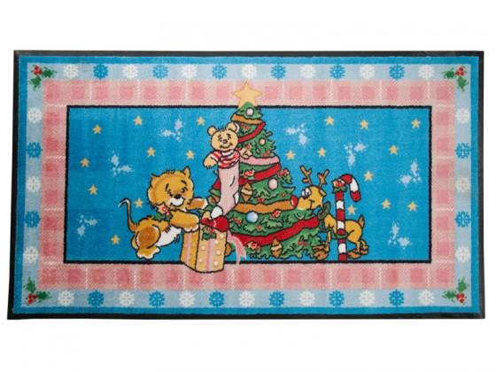 Weihnachtsmatte Tierbabies feiern Weihnachten