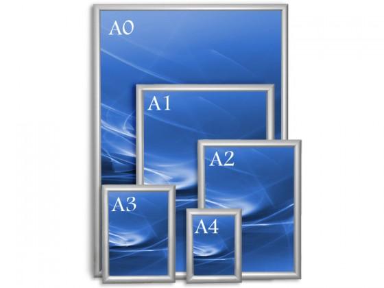Wechselrahmen Opti-Clic | Plakatrahmen | Gegehrte Kanten | Grössen A0 bis A4