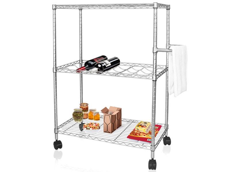 Küchenwagen metall  Küchenwagen aus Metall mit 3 Etagen | schutzmatten.ch