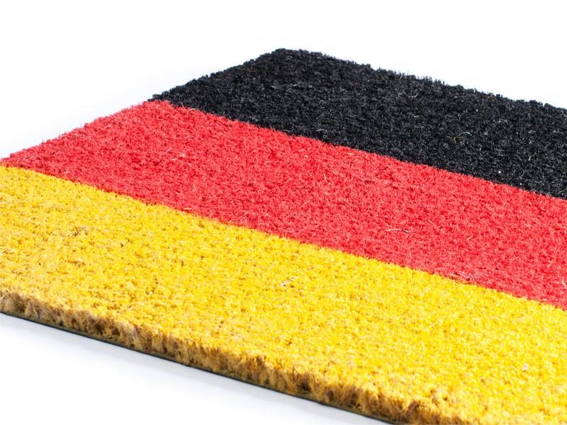 Kokosmatten Schwarz, Rot, Gold | schutzmatten.ch