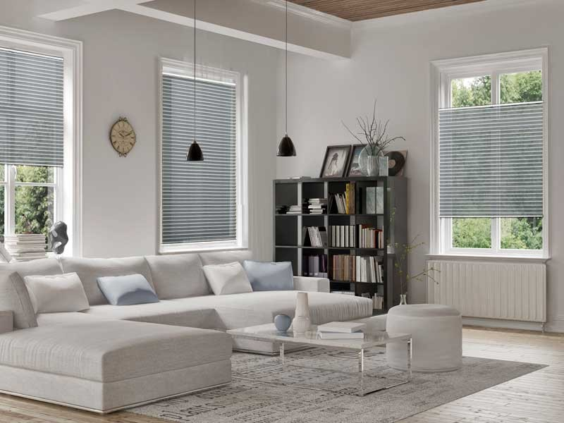 plissee grau cheap stretch plissee in silber grau ansicht stretch plissee in silber grau with. Black Bedroom Furniture Sets. Home Design Ideas