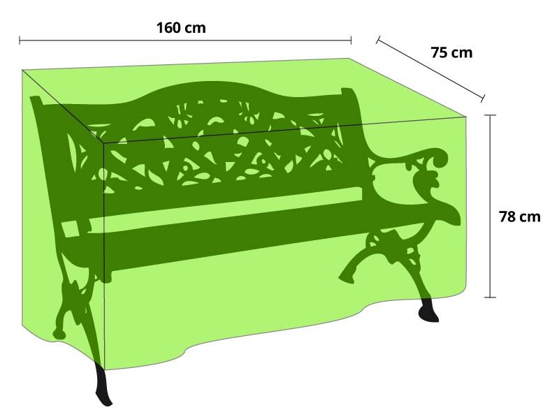 wetterfese schutzh lle f r gartenbank. Black Bedroom Furniture Sets. Home Design Ideas