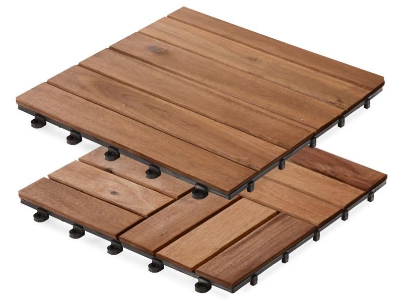 holzfliesen stecksystem mit akazienholz. Black Bedroom Furniture Sets. Home Design Ideas