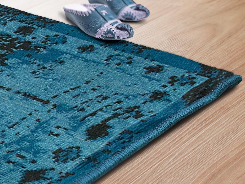designer teppiche vintage blau. Black Bedroom Furniture Sets. Home Design Ideas