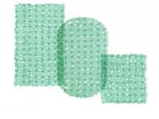 Wanneneinlage | Bubble | Grün-Transparent | Casa Pura | als Badewanneneinlage und Duschmatte erhältlich | 3 Grössen