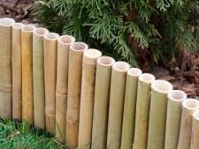 Bambus-Beetumrandung
