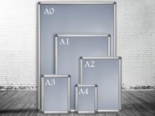 Wechselrahmen Rondo | Plakatrahmen | Kunststoff-Ecken | Grössen A0 bis A4