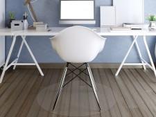 Bodenschutzmatte für Hartböden | Transparent | Rund