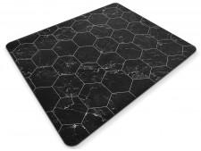 Design-Bodenschutzmatte Black Marble