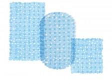Wanneneinlage | Bubble | Blau-Transparent | Casa Pura | als Badewanneneinlage und Duschmatte erhältlich | 3 Grössen