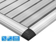 Alu-Stegmatte mit Rahmen, Elegant Mat Aluminium