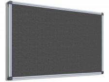 Filz-Pinnwand mit Aluminium-Rahmen | Grau | 5 Grössen