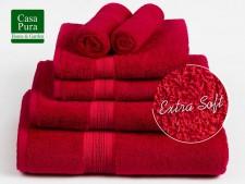 Frottier-Handtücher rot