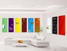 Glas-Board farbig als Magnettafel