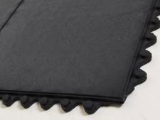 Gummi-Bodenmatte glatt, Stecksystem