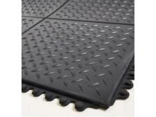 Bodenmatten mit Riffelblechprofil, Gummi