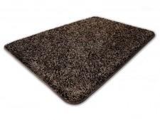 Hochflor-Teppich braun