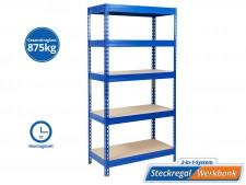 Schwerlastregal | Blau | Gesamtlast: 875 kg | 4 Grössen