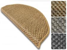 Sisal-Stufenmatte Tiger-Eye | Halbrund oder eckig | Erhältlich in 3 Farben