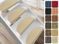 Sisal-Stufenmatte Sylt | Halbrund oder eckig | Erhältlich in 12 Farben