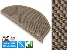 Sisal-Stufenmatten Tiger-Eye beige