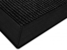 Sisal-Teppich schwarz