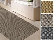 Sisal-Teppich auf Mass | Tiger-Eye-Struktur | Gekettelt | 3 Farben