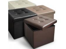 Faltbare Sitzwürfel Belmondo | Kunstlederbezug | 2 Grössen