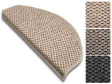 Stufenmatte Kalkutta | Sisaloptik | Halbrund oder eckig | 3 Farben
