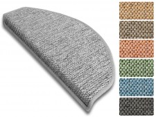 Stufenmatte Sabang | Sisaloptik | Halbrund oder eckig | 7 Farben