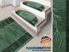 Teppich-Läufer auf Mass | Gekettelt | Akzent grün