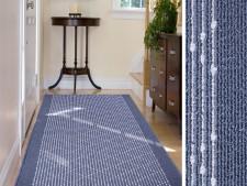 Teppich-Läufer blau-gemustert