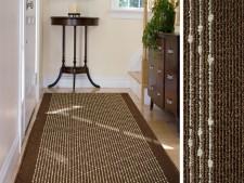 Teppich-Läufer braun-gemustert