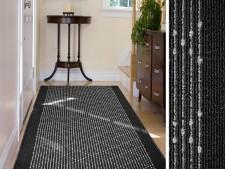 Teppich-Läufer schwarz-gemustert