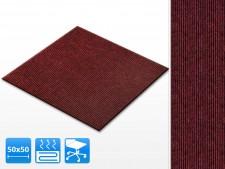 Teppichfliesen Merci | 50x50 cm | Rot | Gerippt | Selbstklebend