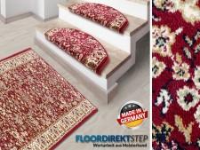 Teppich-Läufer auf Mass | Gekettelt | Römö rot