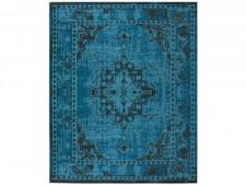 Flachgewebter Teppich Vintage | Blau | 4 Größen